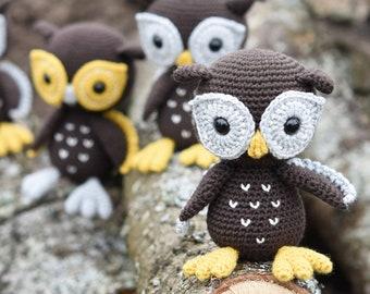 Amigurumi owl pattern - Bubo the Owl - crochet tutorial, printable pdf, DIY