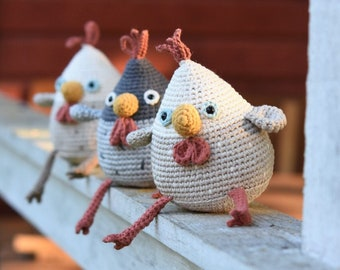 Amigurumi hen pattern - Stupid hen - crochet tutorial, printable pdf, DIY