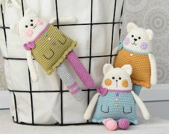 PATTERN - Rag doll cat - amigurumi pattern, crochet pattern, crochet cat, DIY, 5 languages