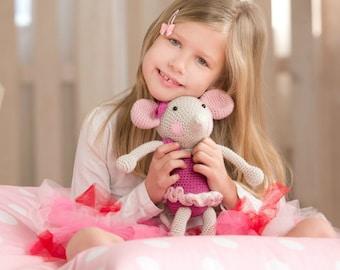 PATTERN - Ballerina-Mouse - crochet pattern, amigurumi pattern, crochet mouse, ballerina doll, crochet ballerina, DIY, 5 languages