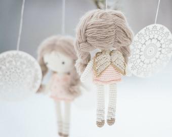 Amigurumi angel doll pattern - Little angel doll - crochet toys, printable pdf, tutorial, DIY