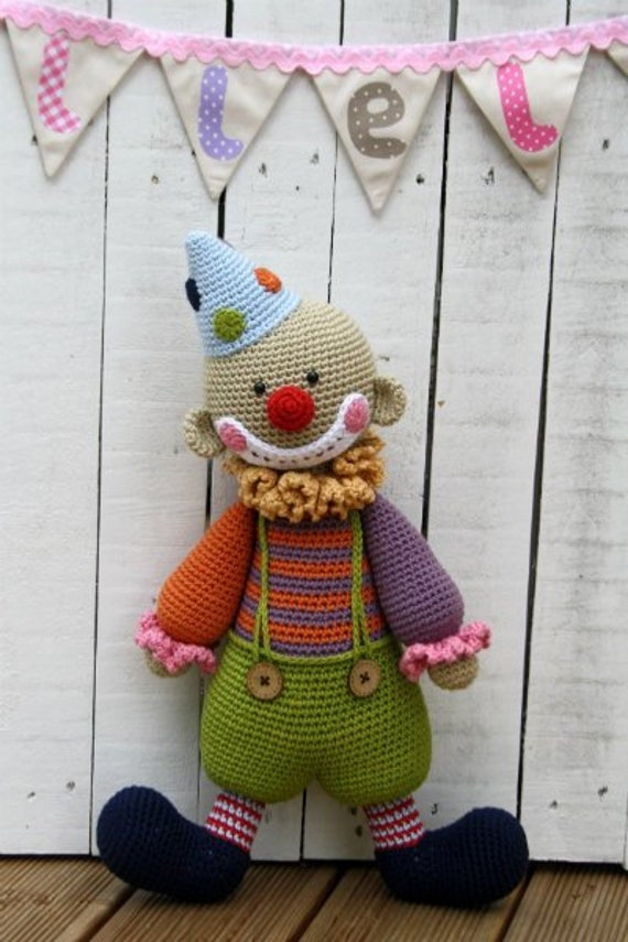 Pattern Chatterbox The Clown Amigurumi Pattern Crochet Etsy