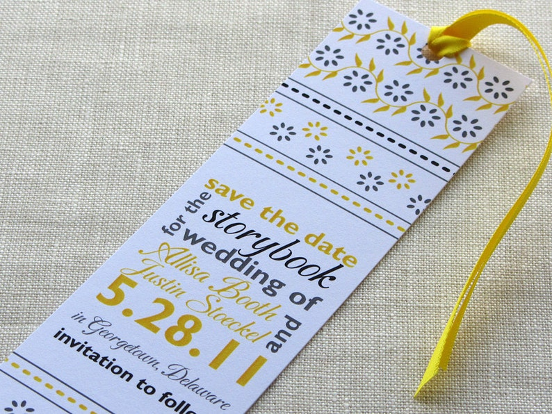 Bookmark Save the Date  Indian Block Print with Typographic image 0