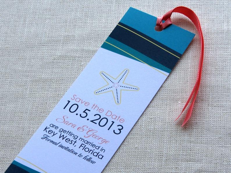 Starfish Beach Bookmark Save the Date   Waves Destination image 0