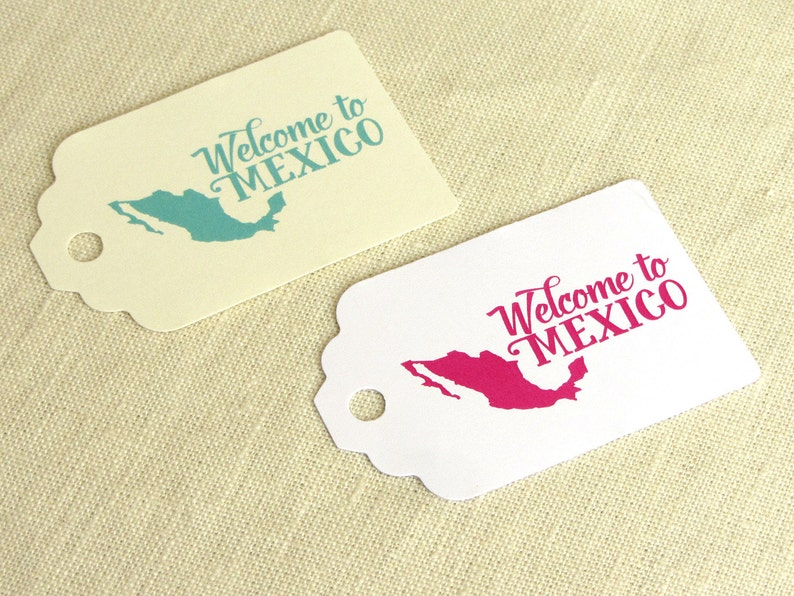 Welcome to Mexico Tag  Welcome Bag Luggage Tag for Mexican image 0