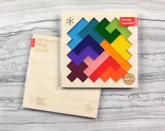 Square Pentomino Puzzle - Rainbow