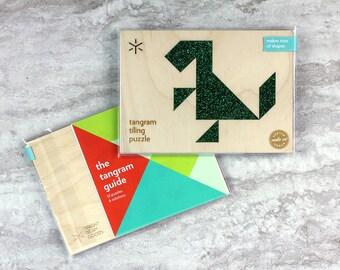 Classic Green Glitter Dinosaur Puzzle