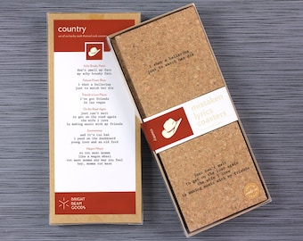Country Mistaken Lyrics Coaster Set