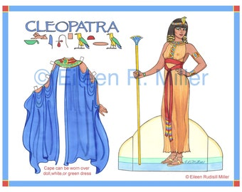 Cleopatra Paper Doll