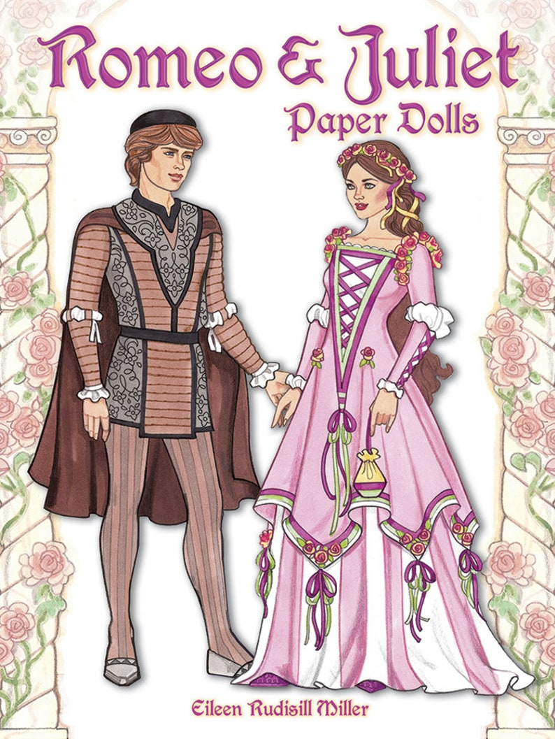 Romeo And Juliet Paper Dolls Etsy
