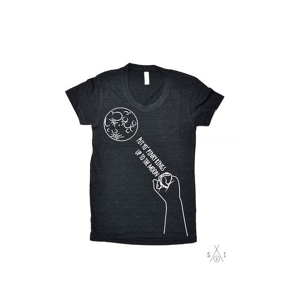 8a4976de put your pinky rings up TO THE MOON adult t-shirt scout &   Etsy