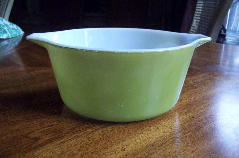 Handled Casserole Dish Baking Dish w Lid Vintage 474 Verde
