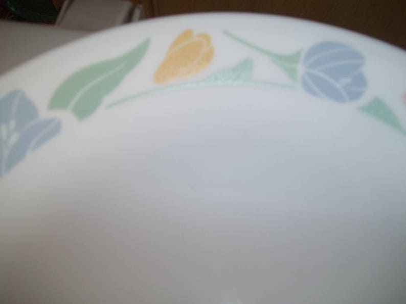 4 Corelle Friendship Dinner Plates Made in the USA