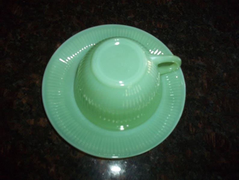 Cup and Saucer Fire King Jadeite,