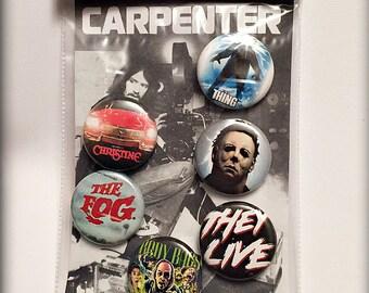 "John Carpenter's Horror Films - 1"" Button Set"