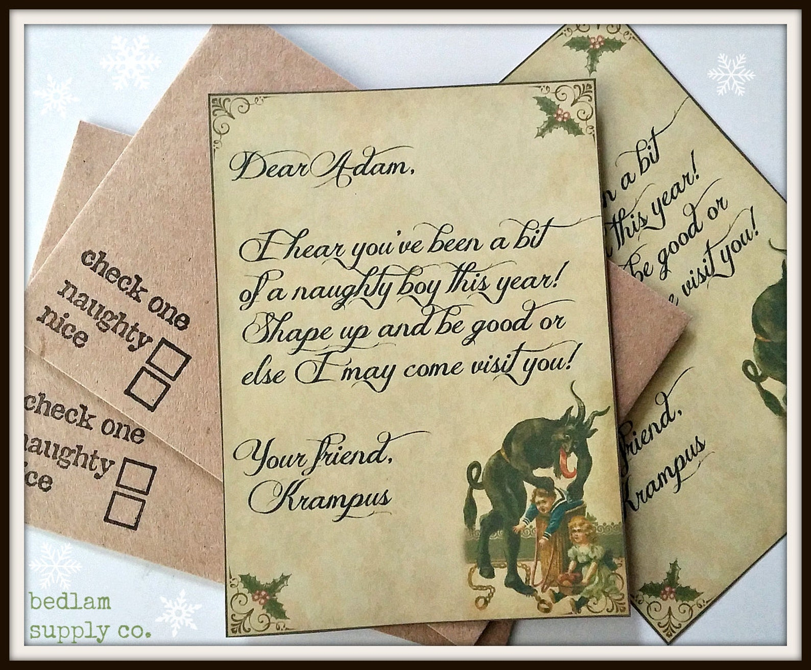 Personalized Krampus Letter for Naughty Children