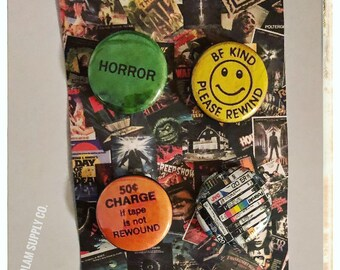 "VHS love 1"" Button Set"