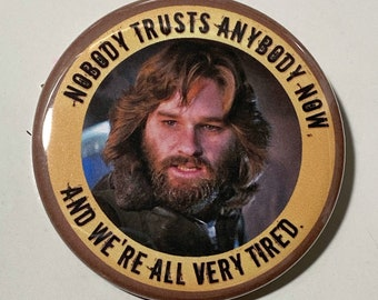 Carpenter's The Thing - Large Pin Back Horror Button