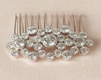Bridal Hair comb, Crystal hair comb,  Wedding, Hair accessories, Hair clip, Cassie Hair Comb