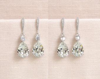 Crystal Bridal earrings  Wedding jewelry Bridal Necklace Swarovski Crystal Wedding earrings Bridal jewelry, Lilliana Crystal Drop Earrings