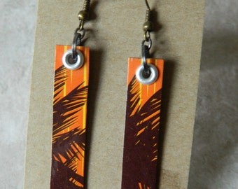beach inspired recycled paper earrings