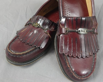 7b0cd807f01 80s Oxblood Weejuns Loafers