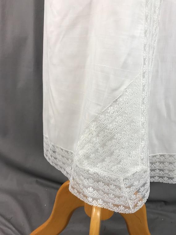 1940s Ro Jene Lingerie Slip Lace Half Slip Off Wh… - image 4