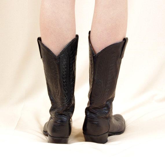 poste Cowboybottes Western Dannoir de noiresbottes pour homme Bottes Cowboy cuir noiresbottes en de de en Cowboy Countrybottes bottes f76ygYb