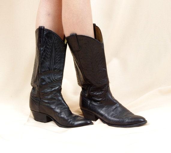 Mens Dan Post Cowboy Boots * Black Cowboy Boots *