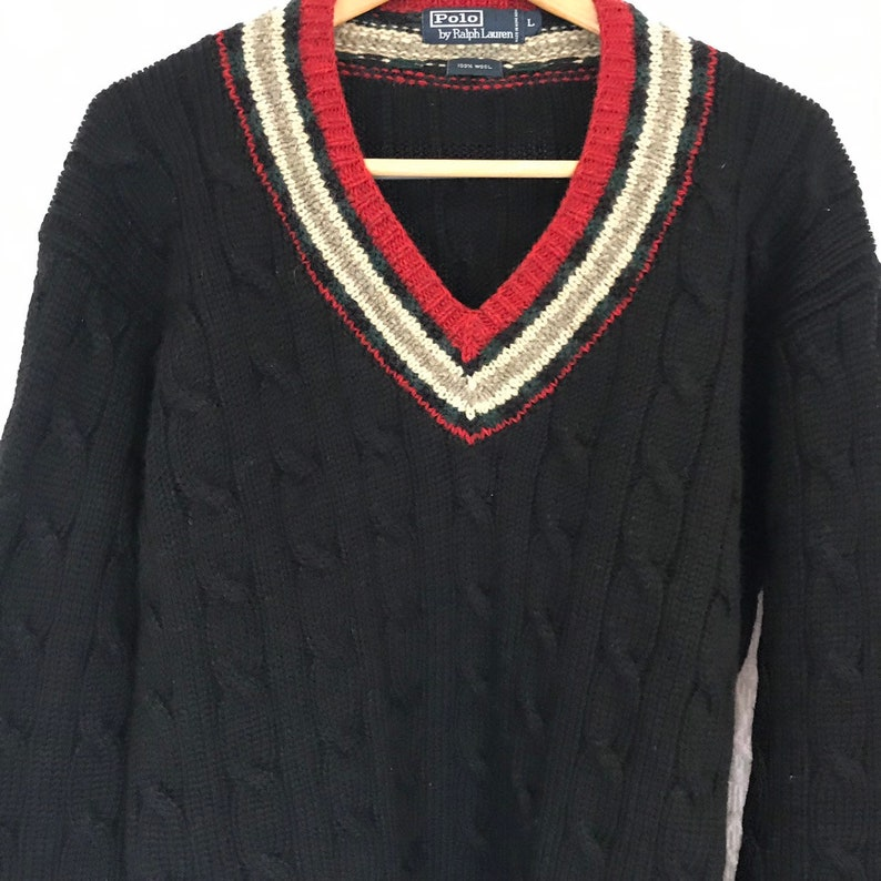 5f44f804eb6a5 Vintage Polo Ralph Lauren Wool Ski Sweater Mens Size Large