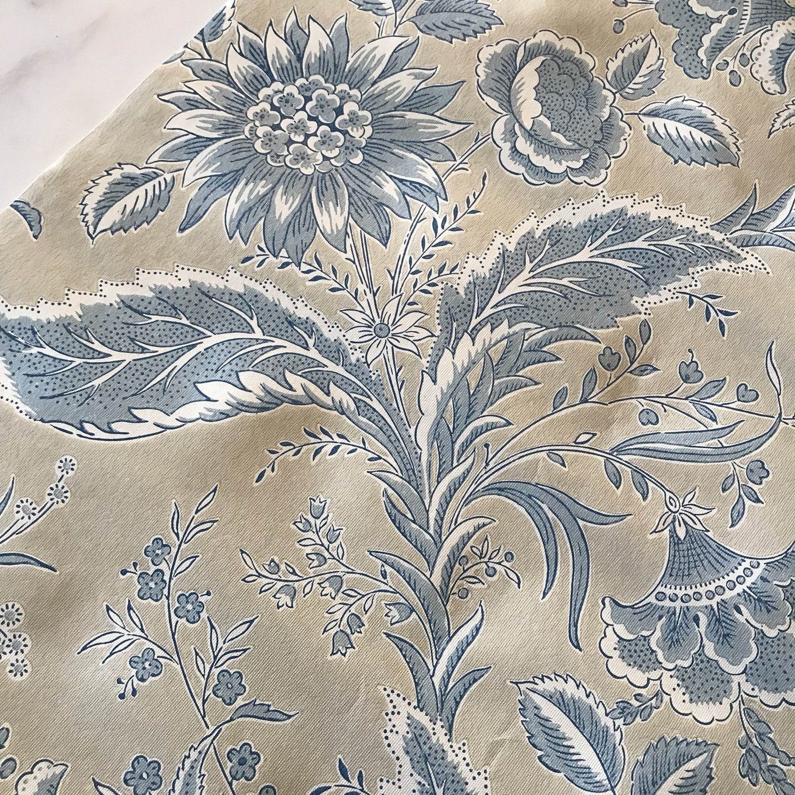 Vintage York Wallpaper Wallcovering T8657 3 Blue Floral Etsy
