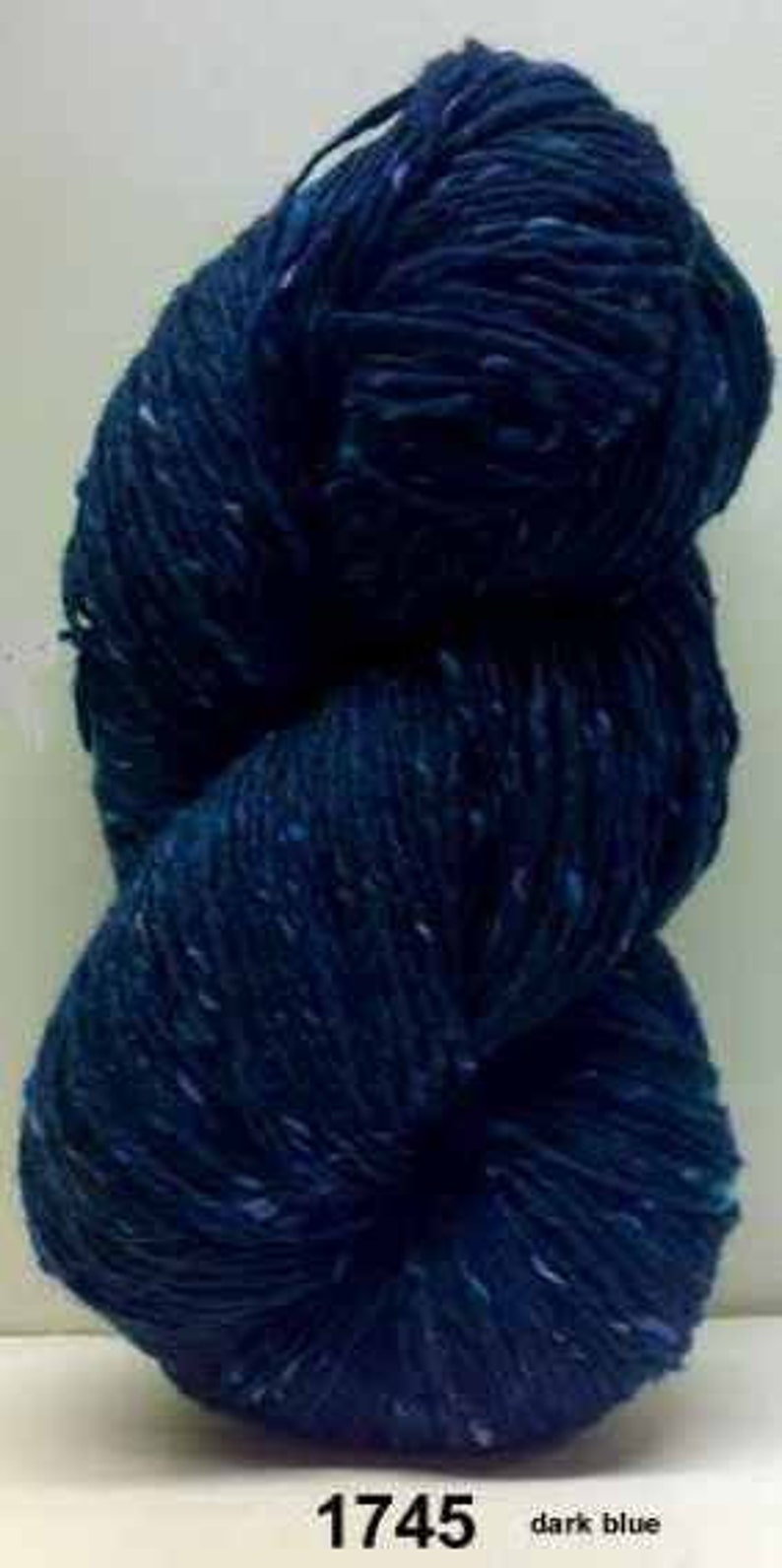 Dark Blue 200g Irish Donegal Kilcarra Wool 350 yard Aran Tweed Yarn