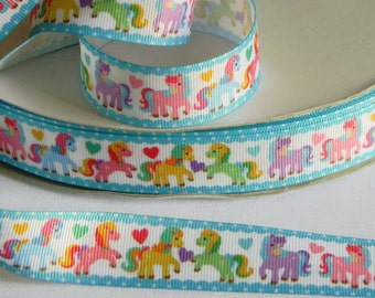 "Horses on Wire-Edge Ribbon 2.5/""Cowboy*Rodeo*Western*Rustic 2 LENGTHS Wreath*Bows"