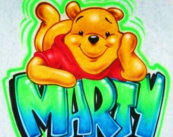 Airbrush T Shirt With Winnie The Pooh