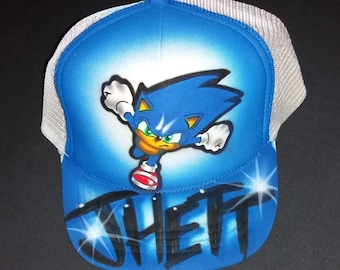 6a86df07573 Airbrush Trucker Hat With Sonic