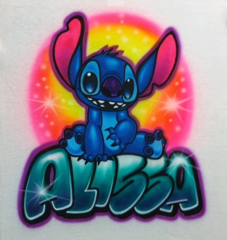 484d8bfe2 Airbrush T Shirt with Stitch Custom Disney Shirts   Etsy