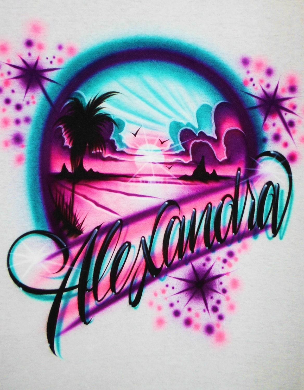 3d91d3462 ... airbrush t shirt beach scene airbrush beach scene shirt etsy ...