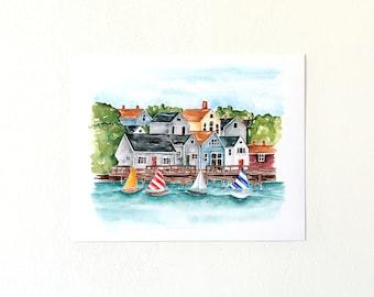 Watercolor Cape Cod print