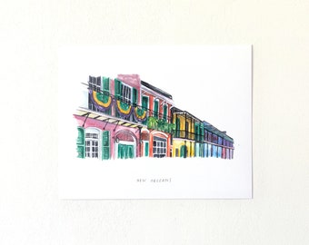 Bourbon Street Illustration