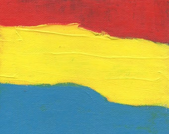 Small Art Gifts, Red Yellow Blue, 5 x 7 Inches, Artist with Autism