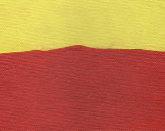 ABSTRACT ART PAINTING - Wall Abstract Art, Wall Art Decor, Original Art Painting, Red Yellow Blue Art Gifts, Canvas Painting (6 x 4 Inches)