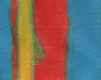 Small Primary Color Painting, Mini Painting, Artist with Autism