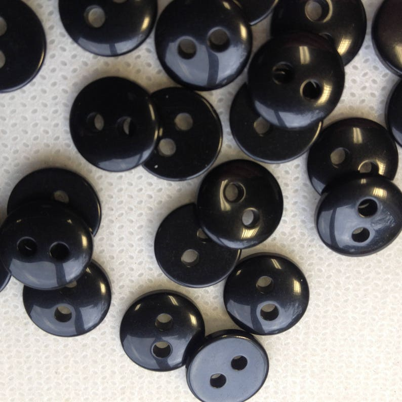 Shirt buttons shaped 2 hole for sewing Round 11mm clothing craft etc