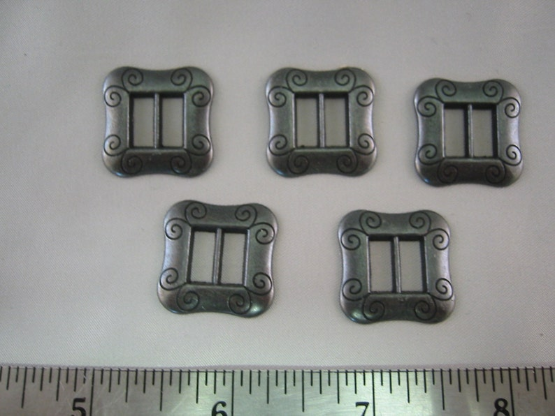lot of  2 ---- Size 78 Buckles Gray Buckle Pewter color Buckle