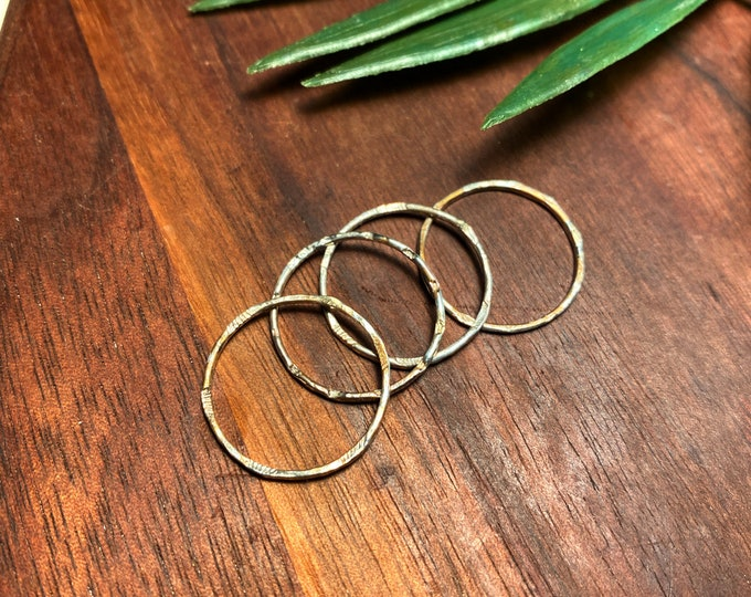 Saturn Rings - Stacker Rings - boho - Nomadwest - fashion - designer - smallbusiness - woman owned - bohemian - galactic - hammered - ring