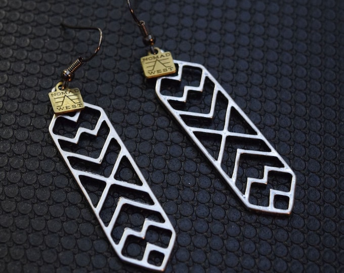 Gabriel Earrings - handmade jewelry - fashion - earrings - gypsy - egyptian - silver - black - gold - gift - geometric - tribal