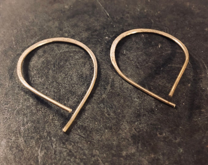 Molly Hoops Earrings - threaders - gold - silver - brass - boho - nomadwest - fashion - bohemian - geometric - jewelry - designer - woman