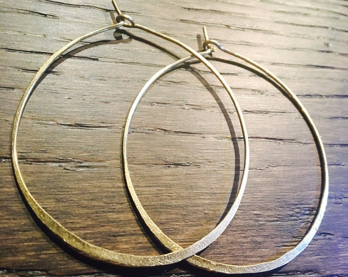 Miko Hoop Earrings - Hammered - gold - silver - brass - large - small - handcrafted - designer - jewelry - nomadwest - boho - bohemian