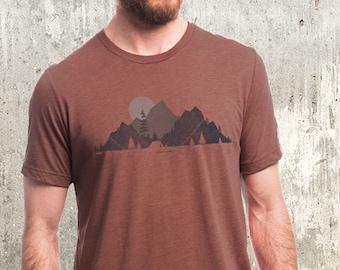 f81db387f Men's Camp & Topo Tee - Screen Printed Men's T-Shirt - Men's Nature Themed  T-Shirt