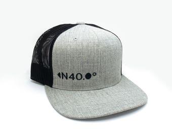 Trucker Hat - North Latitude 40 - Adjustable Men s Unisex Trucker Hat bb0d313fc192